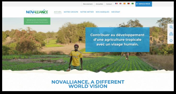 page site internet novalliance
